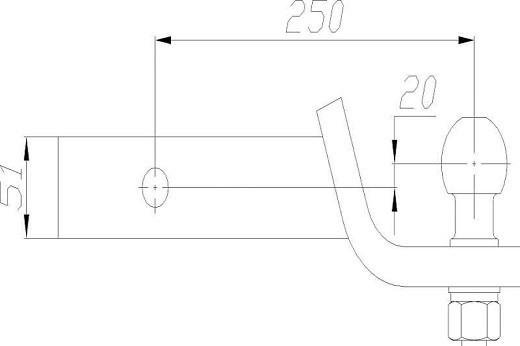 51x51mm us adapter neu anh ngerkupplung kugelkopf. Black Bedroom Furniture Sets. Home Design Ideas